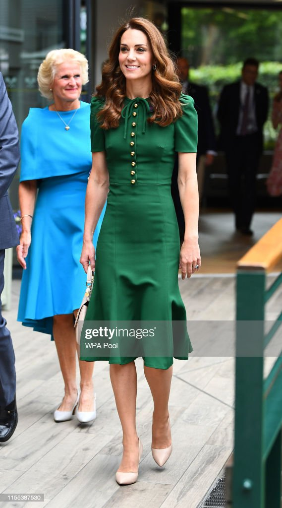 Catherine, Duchess of Cambridge Attends Women's Final Day At Wimbledon : News Photo