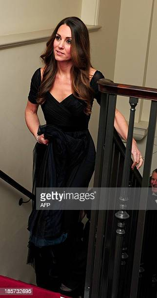 Catherine Duchess of Cambridge arrives at a gala dinner in aid of Action on Addiction hosted by the 100 Women in Hedge Funds Philanthropic...