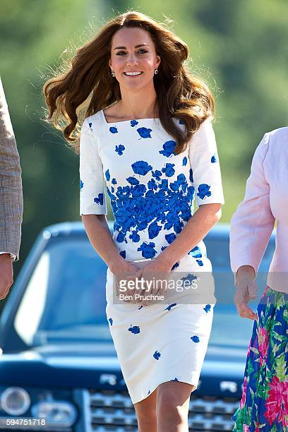 Catherine Duchess of Cambridge arrives at Bute Mills during a visit to Luton on August 24 2016 in Luton England