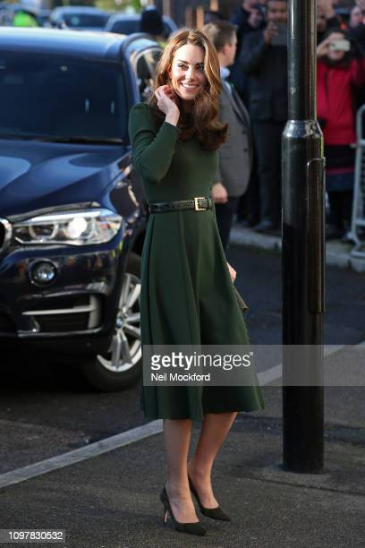 Catherine Duchess of Cambridge arrives at charity Family Action on January 22 2019 in Lewisham England