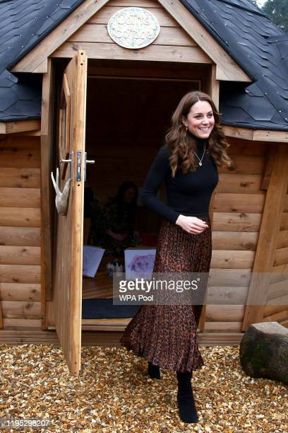 Catherine, Duchess of Cambridge arrives at Ely and Careau Children's Centre on January 22, 2020 in Cardiff, Wales. The visit is part of HRH's 24-hour...