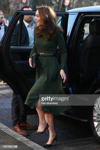Catherine Duchess of Cambridge arrives at Family Action on January 22 2019 in Lewisham England