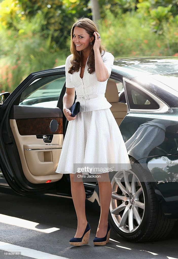The Duke And Duchess Of Cambridge Diamond Jubilee Tour - Day 2 : News Photo