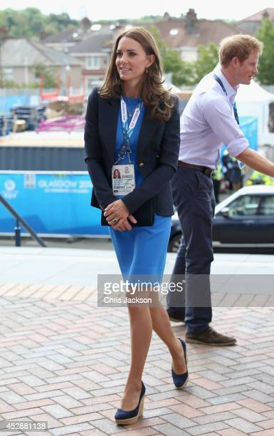 Catherine Duchess of Cambridge arrives at Hampden Park for the athletics on day six of the Commonwealth Games on July 29 2014 in Glasgow Scotland