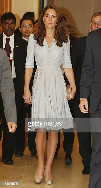 Catherine, Duchess of Cambridge arrives at Kuala Lumpur International Airport on Day 3 of Prince William, Duke of Cambridge and Catherine, Duchess of...