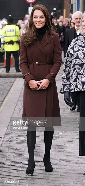 Catherine Duchess of Cambridge arrives at Liverpool charity The Brink an alcoholfree bar which is a social enterprise run primarily to help people...