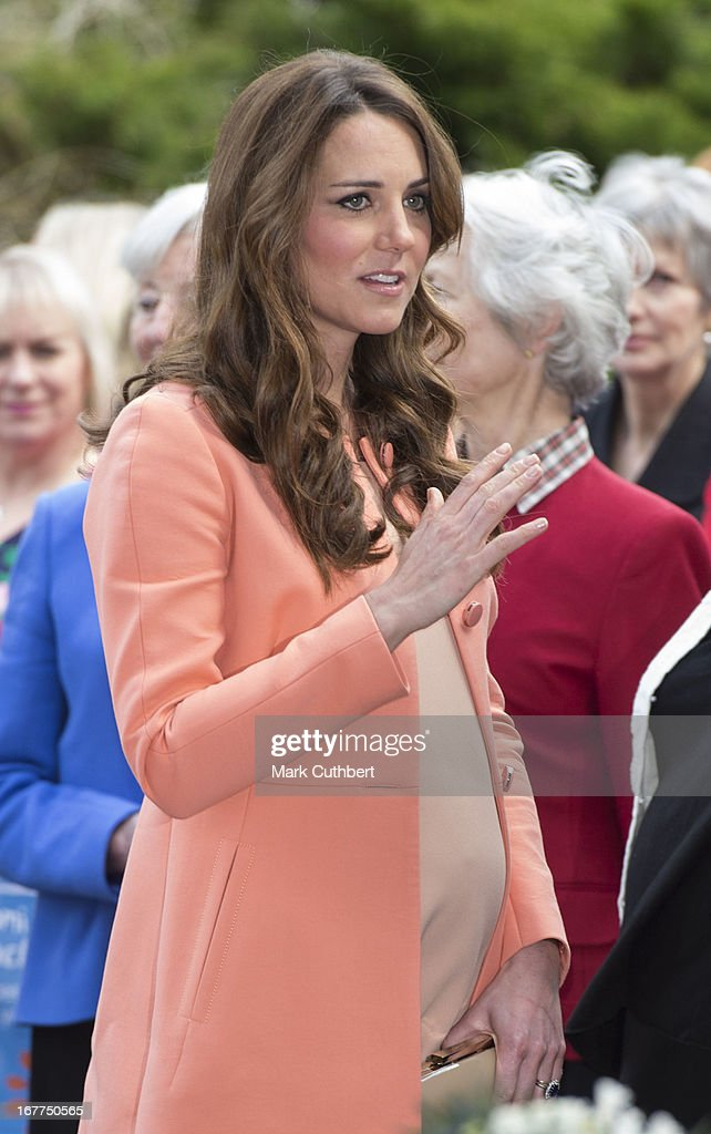 Catherine, Duchess of Cambridge arrives at Naomi House on April 29, 2013 near Winchester, England.
