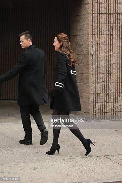 Catherine Duchess of Cambridge arrives at Northside Center for Child Development during her official twoday visit to the United States on December 8...