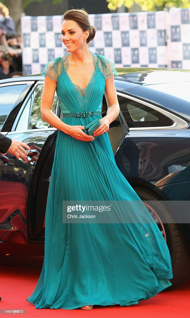 Catherine, Duchess of Cambridge arrives at 'Our Greatest Team Rises -BOA Olympic Concert' at the Royal Albert Hall on May 11, 2012 in London, England.