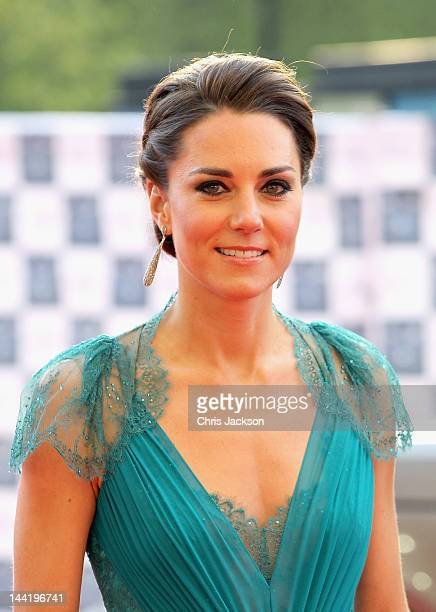 Catherine Duchess of Cambridge arrives at 'Our Greatest Team Rises BOA Olympic Concert' at the Royal Albert Hall on May 11 2012 in London England
