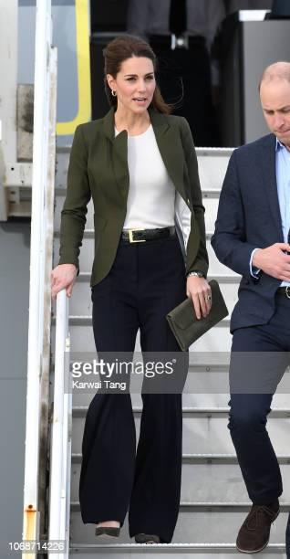 Catherine Duchess of Cambridge arrives at RAF Akrotiri to meet with serving personnel families living on the base and members of the local community...