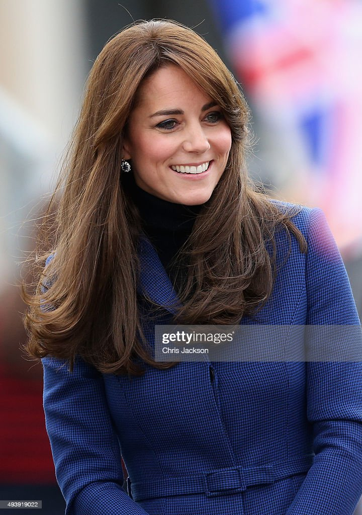 Catherine, Duchess of Cambridge arrives at RSS Discovery as part of an away day to the Scottish City on October 23, 2015 in Dundee, Scotland.