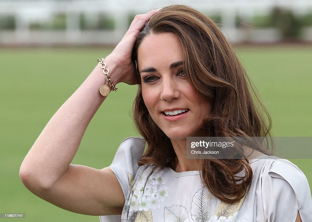 The Duke and Duchess of Cambridge Attend A Polo Match For Foundation Of Prince William & Prince Harry : News Photo