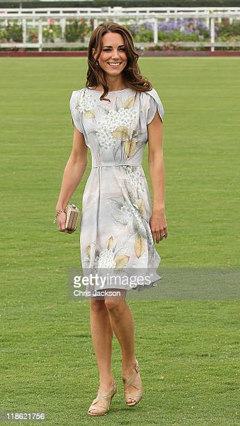 Catherine, Duchess of Cambridge arrives at Santa Barbara Racquet and Polo Club for a Foundation Polo Challenge that benefits the American Friends of...