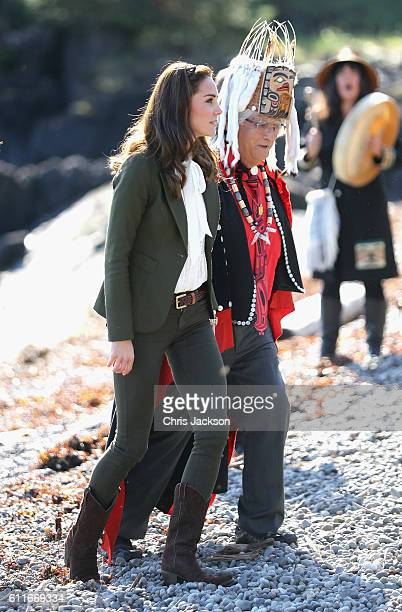 Catherine Duchess of Cambridge arrives at Skidegate Heritage Centre on September 30 2016 in Haida Gwaii Canada The Royal family are visiting Canada...