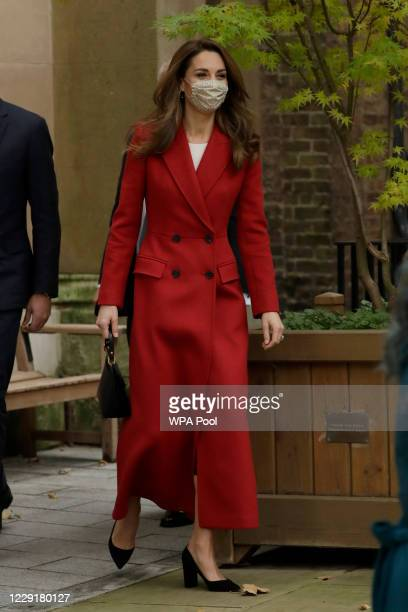 Catherine Duchess of Cambridge arrives at St Bartholomew's Hospital to attend an event to mark the launch of the nationwide 'Hold Still' community...