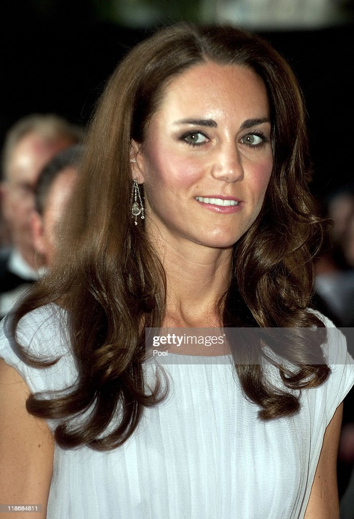 The Duke and Duchess of Cambridge Attend BAFTA Brits To Watch Event : News Photo