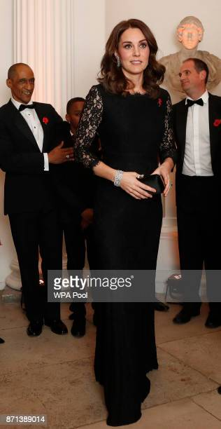 Catherine, Duchess of Cambridge arrives at the 2017 Gala Dinner for The Anna Freud National Centre for Children and Families at Kensington Palace on...