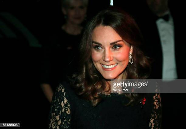 Catherine Duchess of Cambridge arrives at the 2017 Gala Dinner for The Anna Freud National Centre for Children and Families at Kensington Palace on...