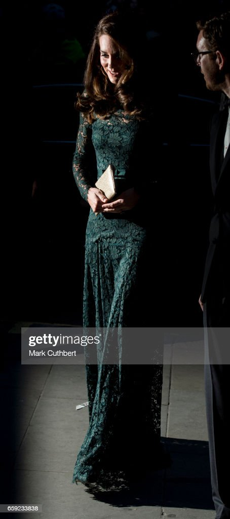 Catherine, Duchess of Cambridge arrives at the 2017 Portrait Gala at National Portrait Gallery on March 28, 2017 in London, England.