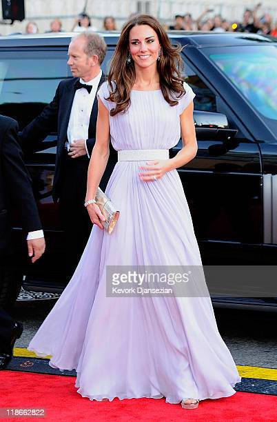 Catherine Duchess of Cambridge arrives at the BAFTA Brits To Watch event held at the Belasco Theatre on July 9 2011 in Los Angeles California