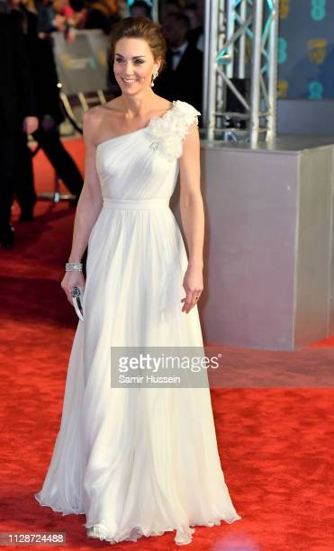 Catherine Duchess of Cambridge arrives at the EE British Academy Film Awards at the Royal Albert Hall on February 10 2019 in London England