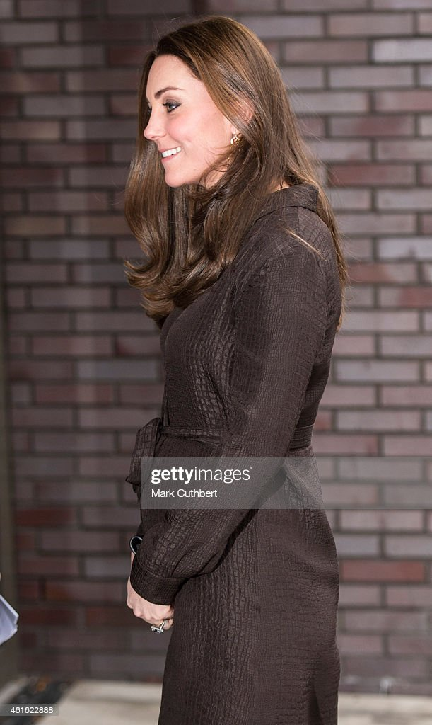 Catherine, Duchess of Cambridge arrives at The Fostering Network on January 16, 2015 in London, England.