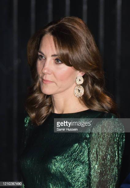 Catherine, Duchess of Cambridge arrives at the Guinness Storehouse's Gravity Bar during day one of their visit to Ireland on March 03, 2020 in...