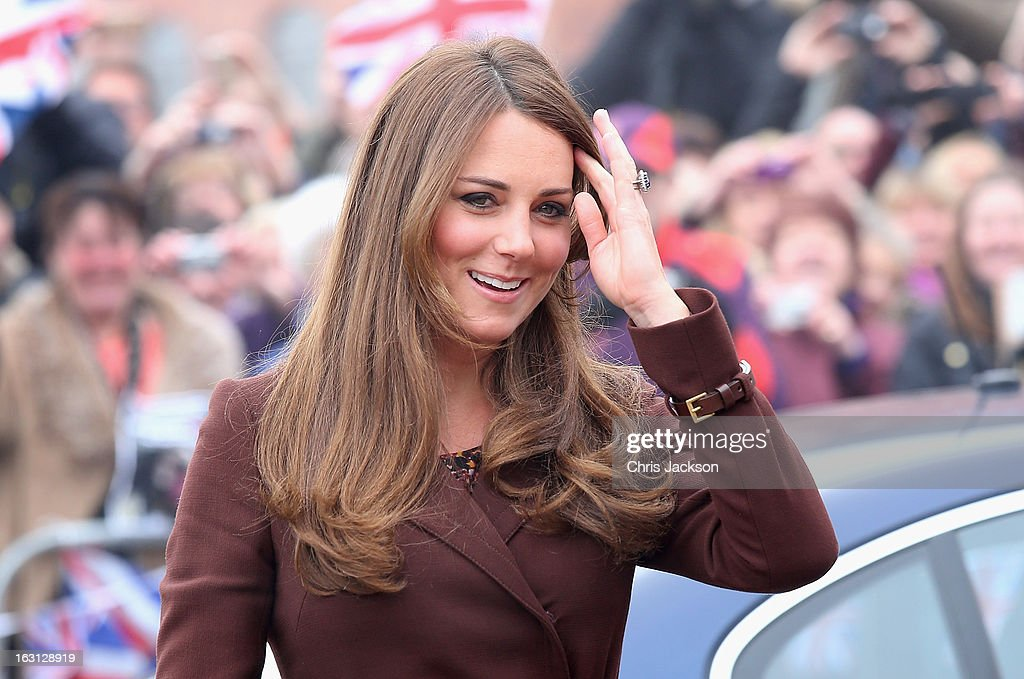 The Duchess Of Cambridge Visits Grimsby : News Photo
