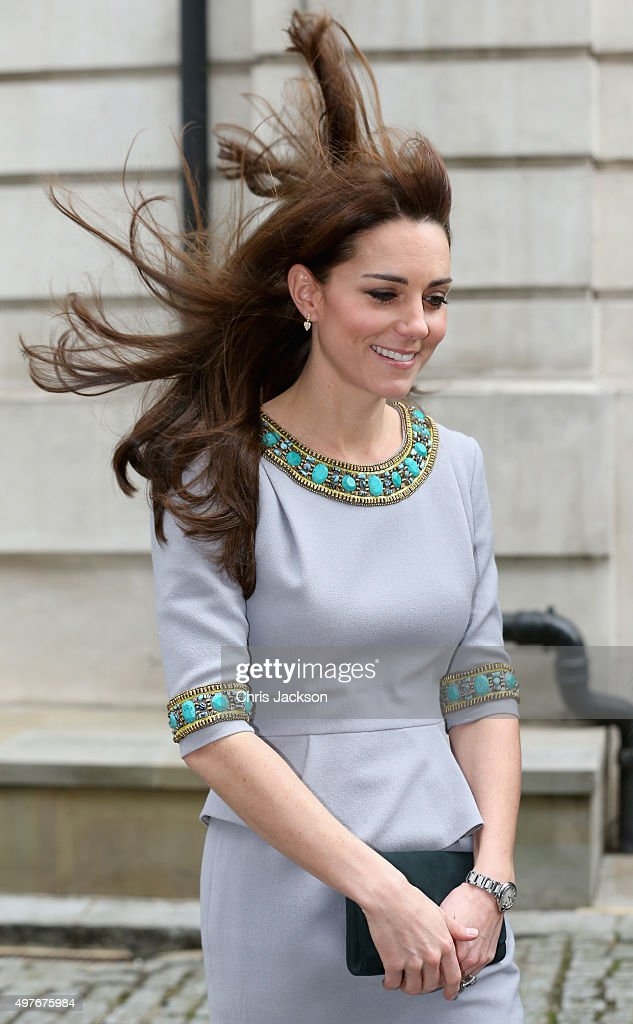Catherine, Duchess of Cambridge arrives at the Place2Be Headteacher Conference at Bank of America Merrill Lynch on November 18, 2015 in London, England. The Duchess was attending as patron of the charity and as part of her ongoing work on the mental health of children.
