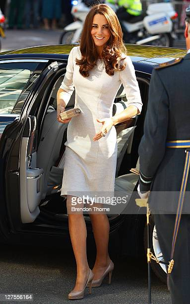 Catherine Duchess of Cambridge arrives at The Royal Marsden Hospital at Belmont Sutton on September 29 2011 in London England Prince William Duke of...
