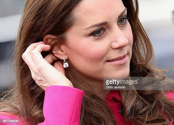 Catherine Duchess of Cambridge arrives at the Stephen Lawrence Centre on March 27 2015 in London England