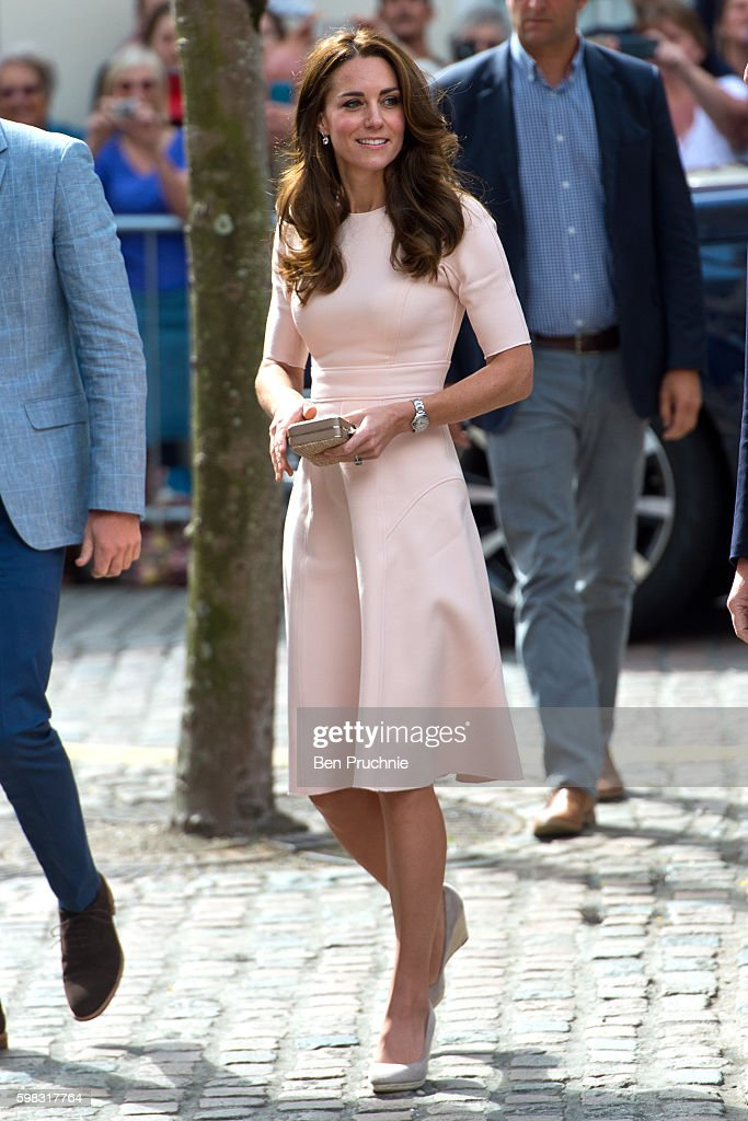 The Duke and Duchess Of Cambridge Visit Cornwall : News Photo