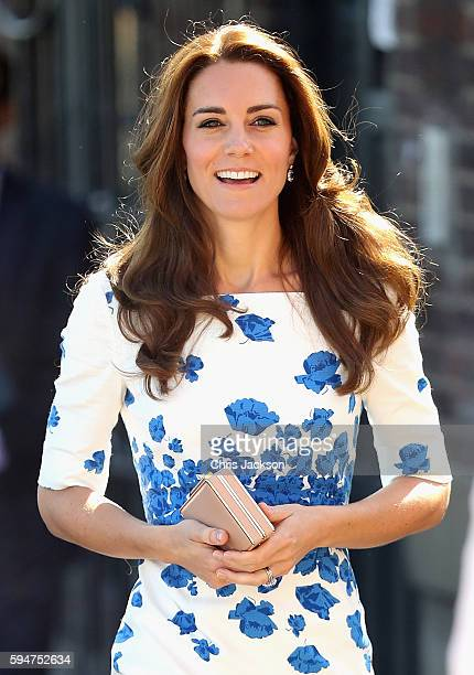 Catherine Duchess of Cambridge arrives at Youthscape on August 24 2016 in Luton England
