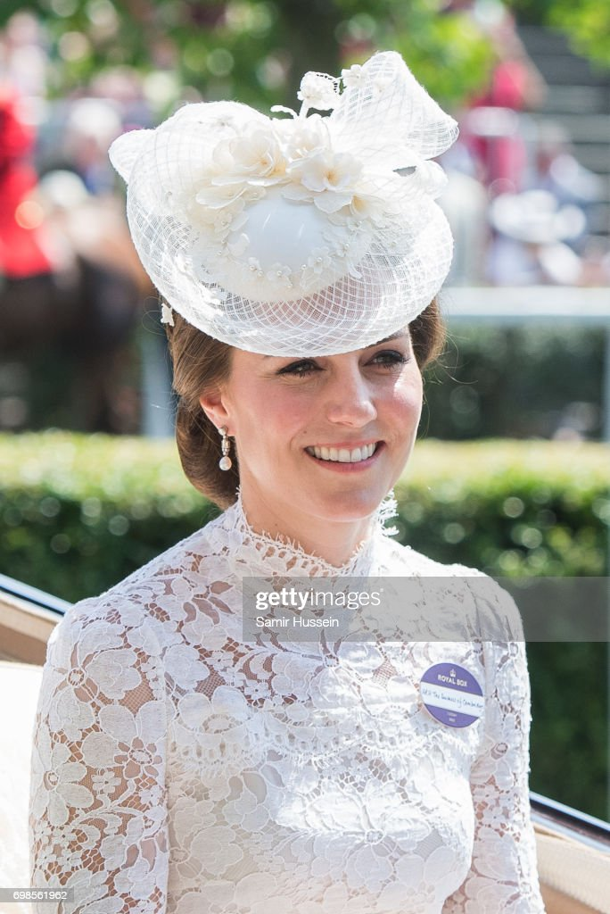 Catherine, Duchess of Cambridge arrives by carriage at Royal Ascot 2017 at Ascot Racecourse on June 20, 2017 in Ascot, England.