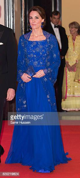 Catherine Duchess of Cambridge arrives for a Bollywood Inspired Charity Gala at the Taj Mahal Palace Hotel during the royal visit to India and Bhutan...
