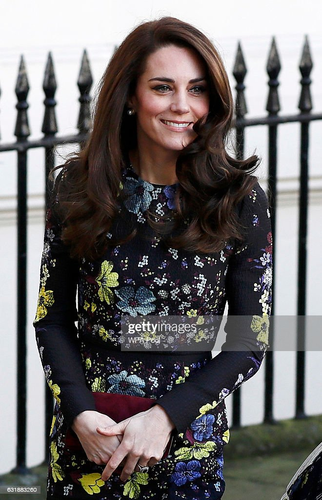 Catherine, Duchess Of Cambridge arrives for a briefing to announce plans for Heads Together ahead of the 2017 Virgin Money London Marathon at ICA on January 17, 2017 in London, England. Heads Together, Charity of the Year 2017, is led by The Duke & Duchess of Cambridge and Prince Harry in partnership with leading mental health charities.