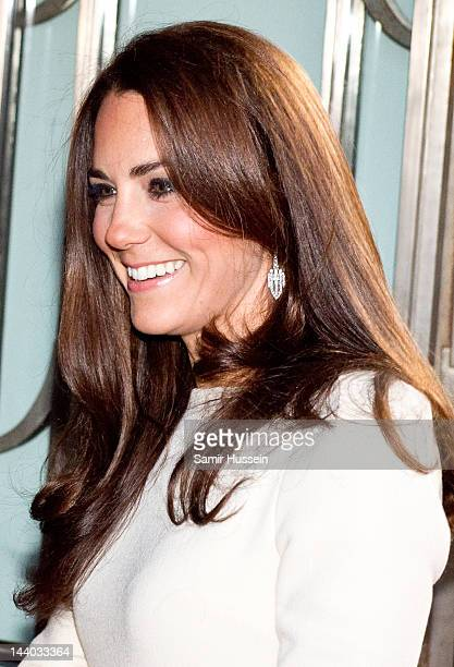 Catherine, Duchess of Cambridge arrives for a dinner hosted by The Thirty Club at Claridges on May 8, 2012 in London, England.