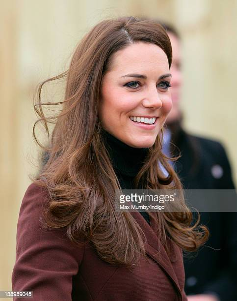 Catherine, Duchess of Cambridge arrives for a visit to Alder Hey Children's Hospital on February 14, 2012 in Liverpool, England.