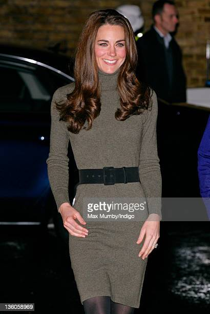 Catherine Duchess of Cambridge arrives for a visit to homeless charity Centrepoint's Camberwell Foyer on December 21 2011 in London England