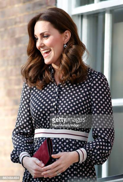Catherine Duchess of Cambridge arrives for a visit to The Foundling Museum on November 28 2017 in London England