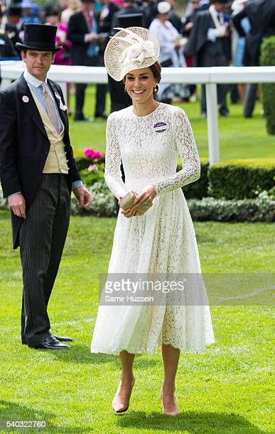 Catherine, Duchess of Cambridge arrives for day 2 of Royal Ascot at Ascot Racecourse on June 8, 2016 in Ascot, England.