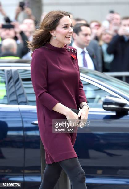 Catherine, Duchess of Cambridge arrives for the Place2Be School Leaders Forum at UBS London on November 8, 2017 in London, England. The Duchess of...