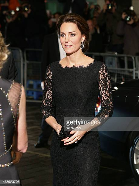 Catherine Duchess of Cambridge arrives for The Royal Variety Performance at the London Palladium on November 13 2014 in London England