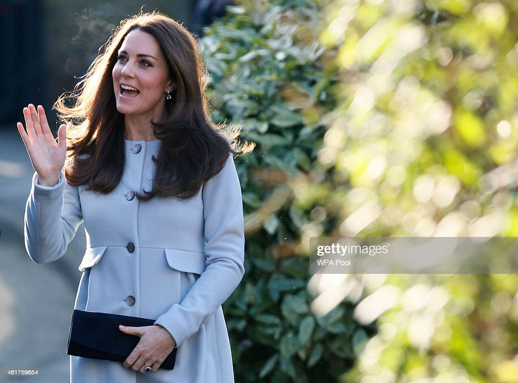 Catherine, Duchess of Cambridge arrives to attend a coffee morning at Family Friends in Kensington on January 19, 2015 in London, England. Family Friends is a voluntary organisation to help families in deprived areas of the borough of Kensington.