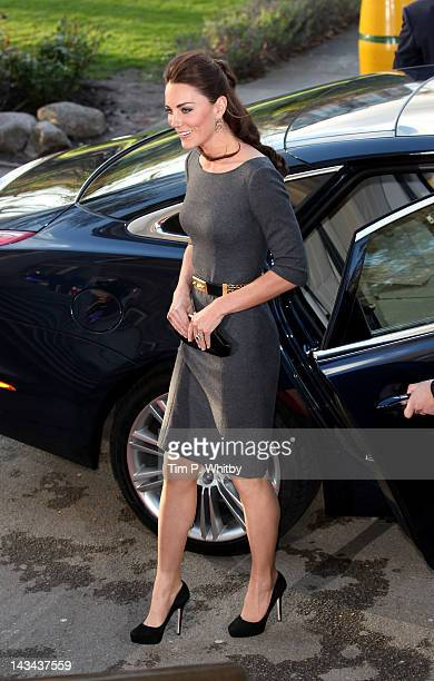 Catherine Duchess of Cambridge arrives to attend a reception to help launch the Imperial War Museum Foundation's First World War Galleries Centenary...