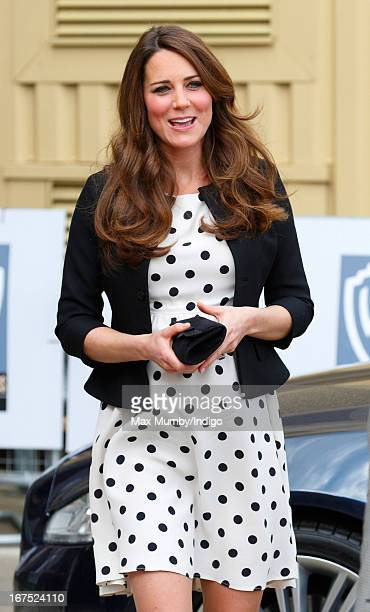 Catherine, Duchess of Cambridge arrives to attend the Inauguration of Warner Bros. Studios Leavesden on April 26, 2013 in London, England.