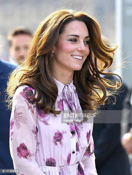 Catherine Duchess of Cambridge arrives to celebrate World Mental Health Day with Heads Together at the London Eye October 10 2016 in London England
