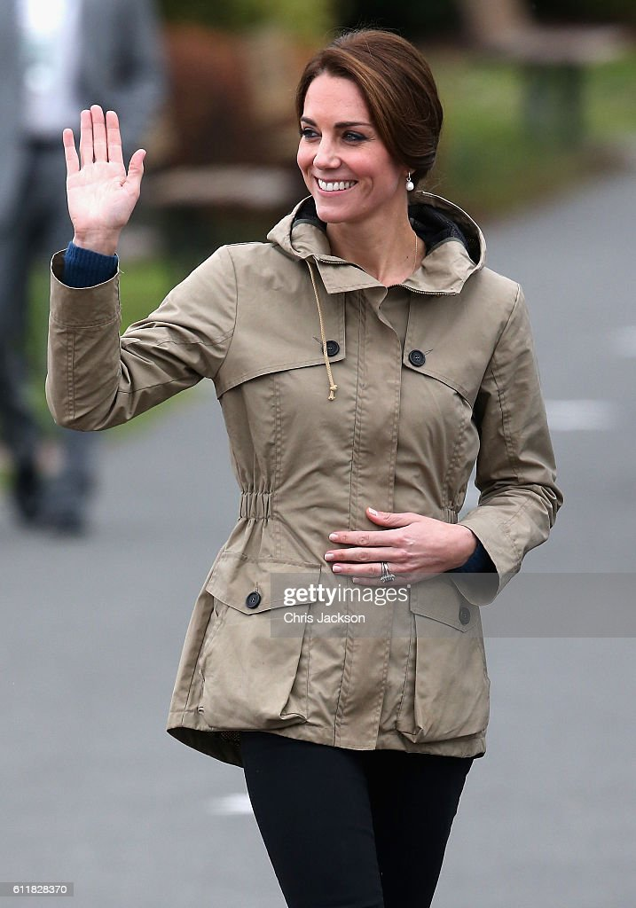 Catherine, Duchess of Cambridge arrives to embark the tall ship Pacific Grace in Victoria Harbour on the final day of their Royal Tour of Canada on October 1, 2016 in Victoria, Canada. The Royal couple along with their Children Prince George of Cambridge and Princess Charlotte are visiting Canada as part of an eight day visit to the country taking in areas such as Bella Bella, Whitehorse and Kelowna