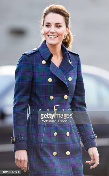 Catherine, Duchess of Cambridge arrives to host NHS Charities Together and NHS staff at a unique drive-in cinema to watch a special screening of...